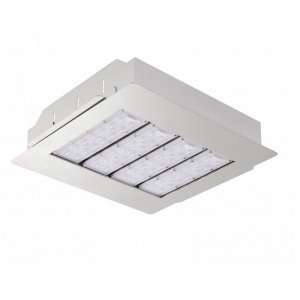 recessed led canopy light for gas station lighting