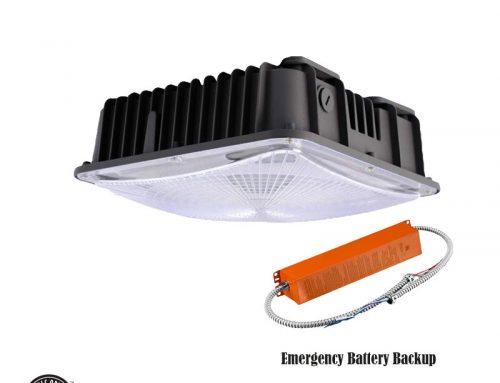 Gas Station Canopy Lights LED Emergency Backup 120W