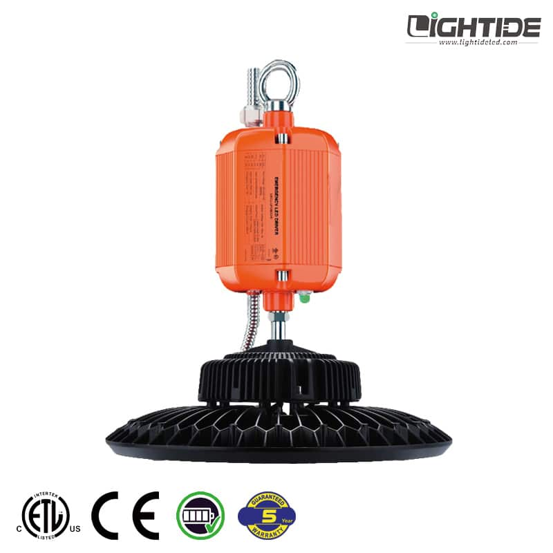 Lightide-high-power-emergency-battery-UFO-LED-high-bay-ceiling lights-100W-240W