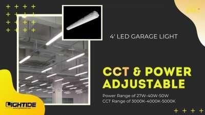 Lightde power & CCT adjustable led garage lights-shop lights