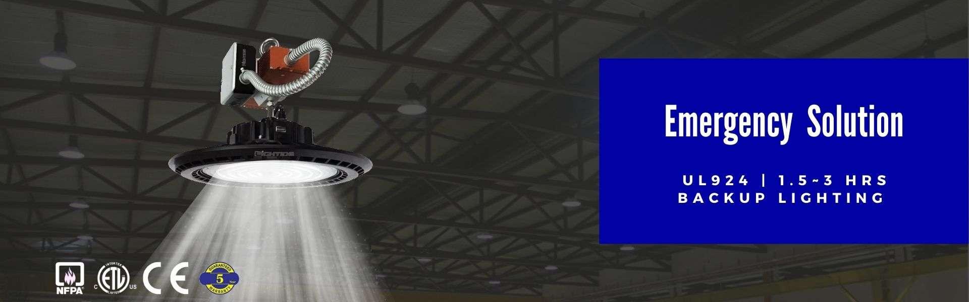 Lightide-UL924 Commercial LED Outdoor Lighting emergency- high-bay-light-202012S2